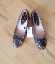 ZARA Snake Print High Heel Leather Ballerinas Court  Shoes NEW SIZE UK 6 EU 39