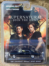 1:64 GreenLight *HOLLYWOOD R6* Black 1967 Impala 4-DOOR Sedan *SUPERNATURAL* NIP