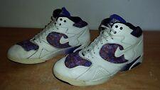 Men's Vintage 1990's White Leather NIKE AIR OG Retro Basketball Sneakers Sz-11