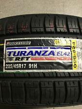 1 New 225 45 17 Bridgestone Turanza EL42 RFT Run Flat Tire