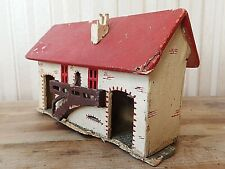 Vintage ITALIAN TRAIN STATIONMASTERS HOUSE 1940'S Wooden Model