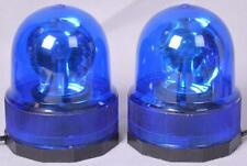 2 Count Rotating Blue Fireman Rescue Lights Magnetic Base 12v