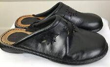 MINNETONKA Men's  Sz 11 Leather Black Partial Rubber bottoms Moccasin Slipper