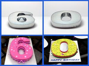 """10"""" NUMBER 6 SIX AND 0 ZERO WEDDING BIRTHDAY ANNIVERSARY CAKE TINS PANS"""