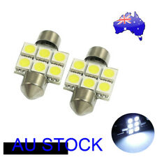 2X White 31MM 5050 6SMD Dome Map Interior LED Light Bulbs 3021 3175