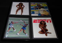Serena Williams Signed Framed 18x24 Photo & 1999 SI Cover Display