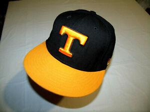 Tennessee Volunteers Black Hat/Orange Brim New Era 59Fifty 90% Wool Fitted 7 1/8