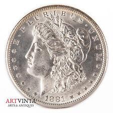 1881 s morgan one dólares Silver moneda de plata unidos américa coin Liberty MS?