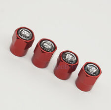 4x Red New Car Accessories Wheel Cover Tire Valve Stem Caps for Jaguar