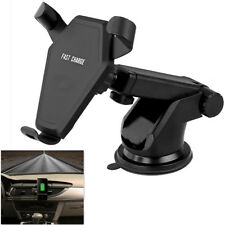 Auto Car QI Fast Wireless Quick Phone Charger with Air Vent Holder + Suction Cup