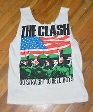 RaRe *1980s THE CLASH* vintage punk rock concert shirt (L) 70s 80s 5th Collumn