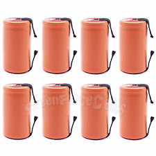 8 pcs SubC Sub C 2900mAh 1.2V NiMH Rechargeable Battery Cell with Tab Orange