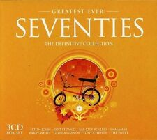 SEVENTIES-GREATEST EVER - ELTON JON, ROD STEWART, MUNGO JERRY, SQUEEZE 3 CD NEUF
