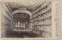Italia Napoli Teatro San Carlo Foto Sommer di dopo Incisione Vintage Albumina