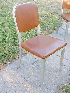 Mid Century Modern Art Deco Vintage Aluminum Art Construction Chair Fire Proof
