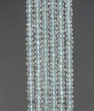 3X2MM SKY BLUE TOPAZ  GEMSTONE GRADE AA FACETED RONDELLE LOOSE BEADS 13.5""