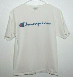 Champion Vintage White T Shirt Size Medium