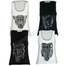 ladies Brave Soul tank top t shirt womens summer casual simba hedwig sequin vest