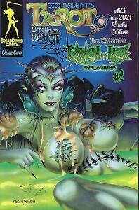 Tarot # 123 Studio Cover  / Raven Hex : The Swordmaiden # 2 Jim Balent Signed NM