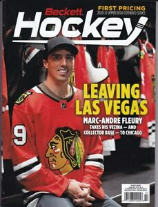 October 2021 Hockey Beckett Monthly Price Guide Vol 33 No 10 Marc-Andre Fleury