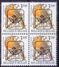 European Robin, Birds, Pre-cancel, Belgium 1986 MNH Blk 4  - K12