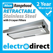 Brilcon Slide Out Rangehood 90 cm - Stainless Steel (RHD-SD90)
