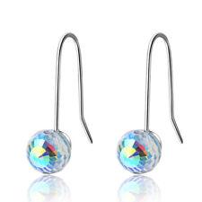 Dangle Hook Earrings For Women 925 Sterling Silver Artificial Aurora Crystal