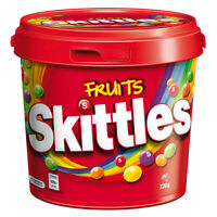 Skittles Fruits Party Bucket 720g Sweets Candy Snack Fun Fruity Flavours Lollies
