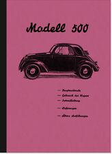 FIAT 500 TOPOLINO Manuale d'uso manuale manuale di istruzioni owner's manual