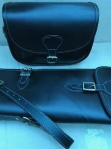 New Sheep Skin Leather Gun Case/Slip + Matching Cartridge Bag Beautiful Design.