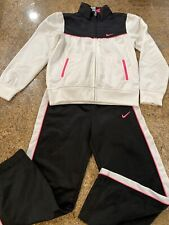 Nike  Girls 2 Pc. Pants Jacket Track Jog Suit Set Pink/black Size 6x