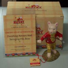 Royal Doulton Rupert Bear Arrows & Bow Character Figurine signed Michael Doulton