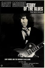 """2/5/92Pgn19 GARY MOORE : STORY OF THE BLUES SINGLE ADVERT 10X7"""""""