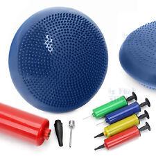 Stability Balance Wobble Air Disc Cushion Ankle Knee Strength Exercise Yoga Blue