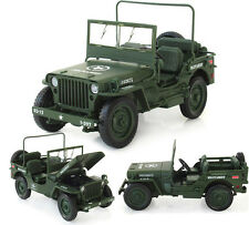 New WWII military jeep Willis tactics 1:18 Alloy Diecast Model Cars Collections