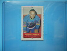 1969/70 O-PEE-CHEE 4-IN-1 MINI STAMP HOCKEY INSERT JACQUES PLANTE 69/70 OPC