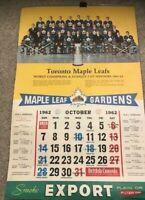 Vintage Toronto Maple Leaf 1962/1963 team calendar Stanley Cup winners complete