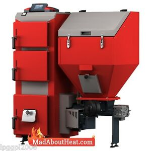DPBi 30kw Wood Pellet Boiler with Self Ignition and multi fuel capability