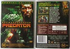 PREDATOR SCHWARZENEGGER FOX DTS 2 DISC AUSTRALIA REGION 4 PAL DVD