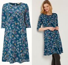 New Ex White Stuff Teal Blue Floral Tunic Nicole Lagoon Dress Size 6-12 RRP £65