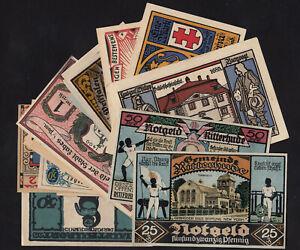 1920's Germany Notgeld Lot 20 Vintage Old Emergency Money Banknote Collection 3
