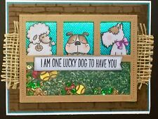 Any Occasions - SHAKER CARD - Dogs - Handmade card by Dee