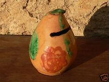tirelire poterie terre cuite vernissé XIX art populaire régional Ligron Sarthe