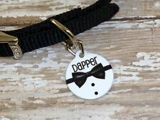 Personalized Bow tie pet tag, wedding dog tag, cat tag, dog tag, pet lover