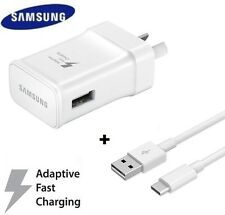Samsung 9V Adaptive Fast Wall Charger + USB Type C Cable Galaxy S9 S8 + Note 7 8