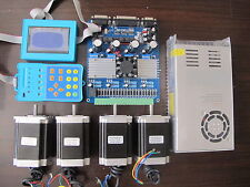 CNC kit New 4Axis Stepper Driver TB6560 +290OZ-IN 82MM nema23 motor for router