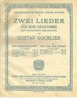 """"""" Das Lied der Eichen """" von Gustav Goublier,  übergroße, alte Noten"""