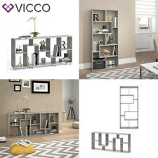 VICCO Raumteiler NOA Beton Optik Bücherregal Standregal Wandregal Büroregal Akte