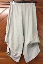 MARTINE SAMOUN pantaloni grigio drappeggio