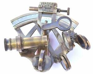 Neovivid Solid Brass Sextant Nautical Maritime Astrolabe Marine Antique Item